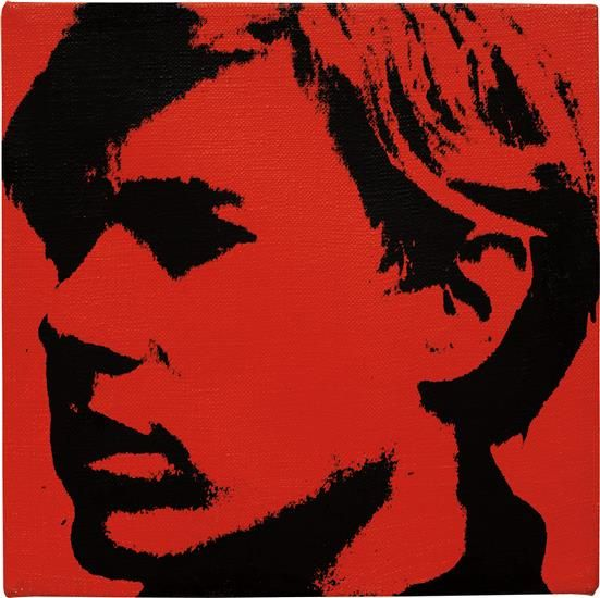 ANDY WARHOL Self-Portrait, 1967 acrylic and silkscreen ink on linen 8 x 8 in. (20.3 x 20.3 cm.)