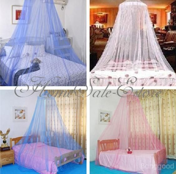 Elegant Round Lace Insect Canopy Bed Netting Curtain Dome Mosquito Net Outdoor & Elegant Round Lace Insect Canopy Bed Netting Curtain Dome Mosquito ...