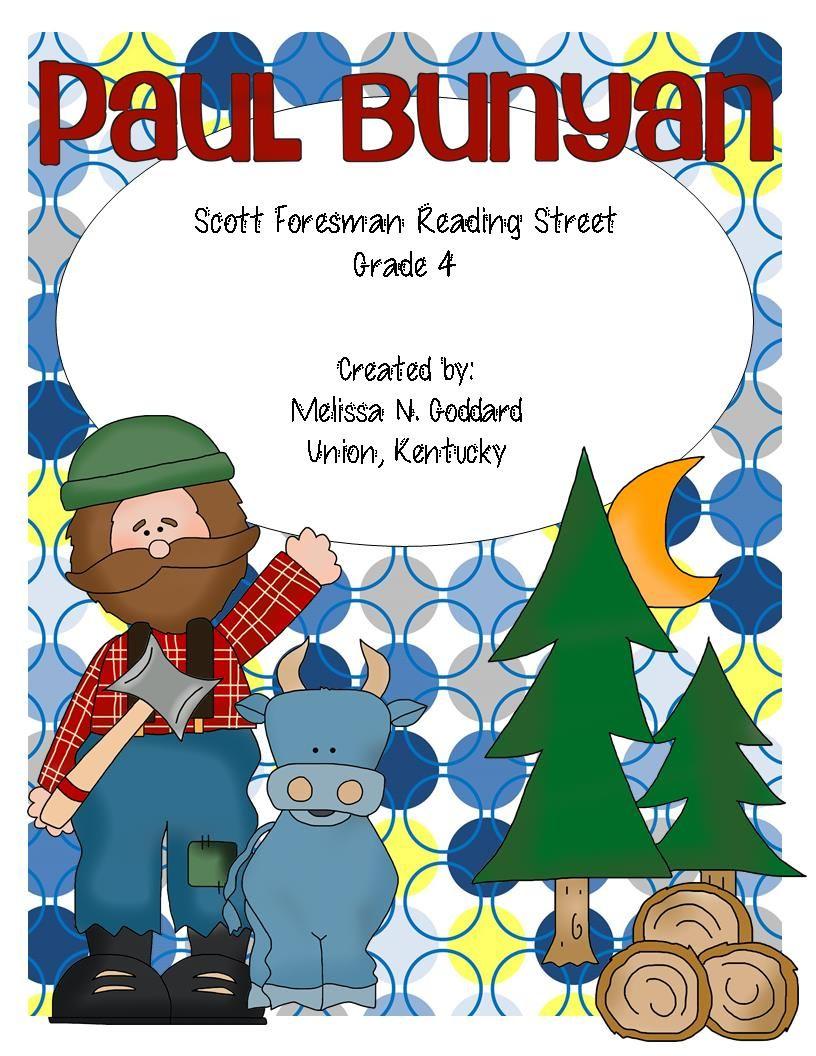 hight resolution of paul bunyan reading street grade 4 http www teacherspayteachers com