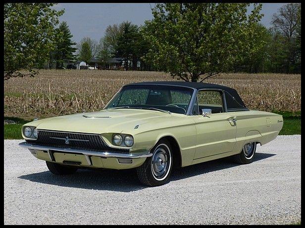 1966 Ford Thunderbird Town Landau In Honeydew Yellow Thunderbird