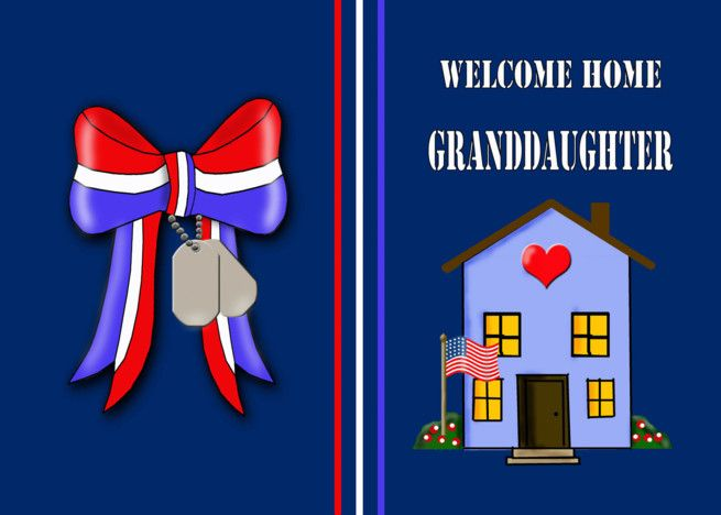 Welcome Home Military Granddaughter -Patriotic Ribbon ...
