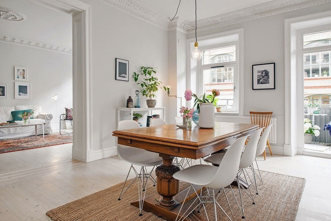 Mixing Antique Dining Table With Modern Chairs Home Decor