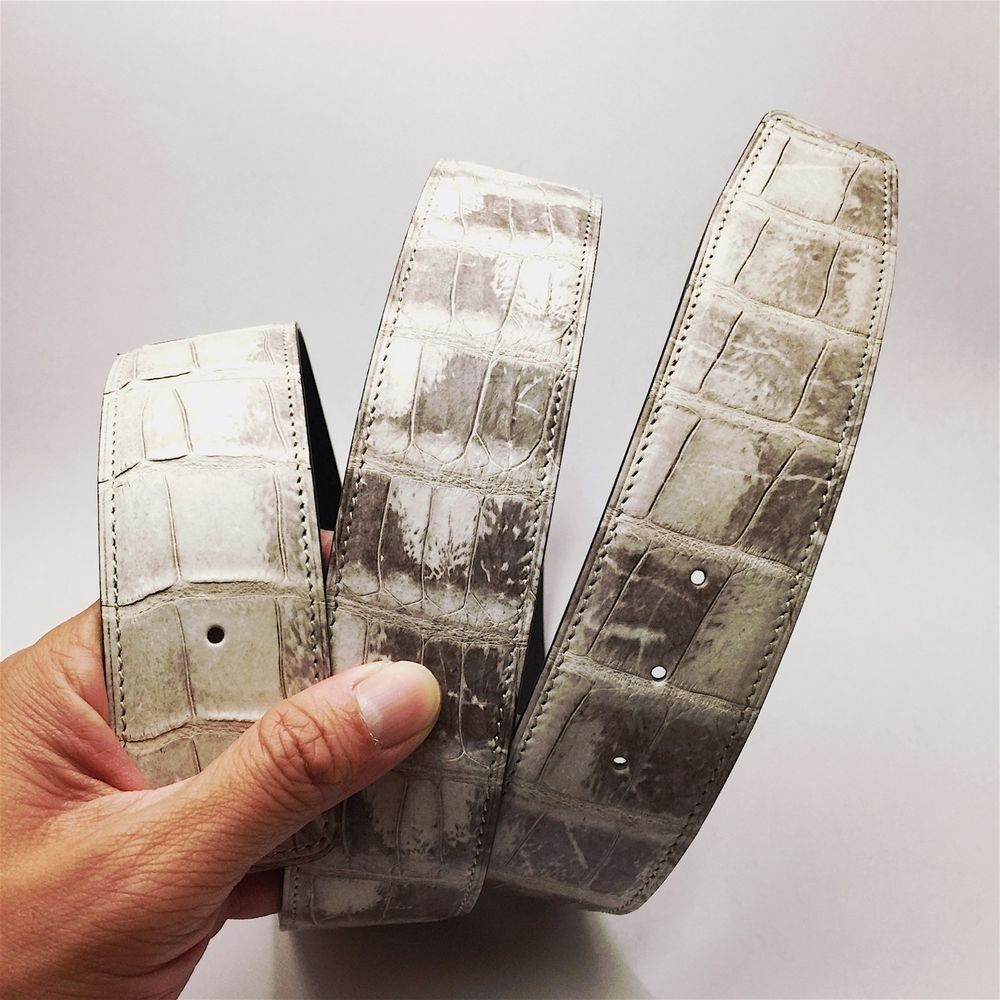 6c2cc9450fc0 Handmade Himalayan crocodile skin strap to fit Hermes 42mm buckle ...
