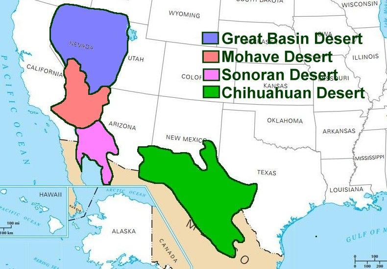 deserts_us_states_map_lg.jpg (790×550) | Places to Visit | Pinterest