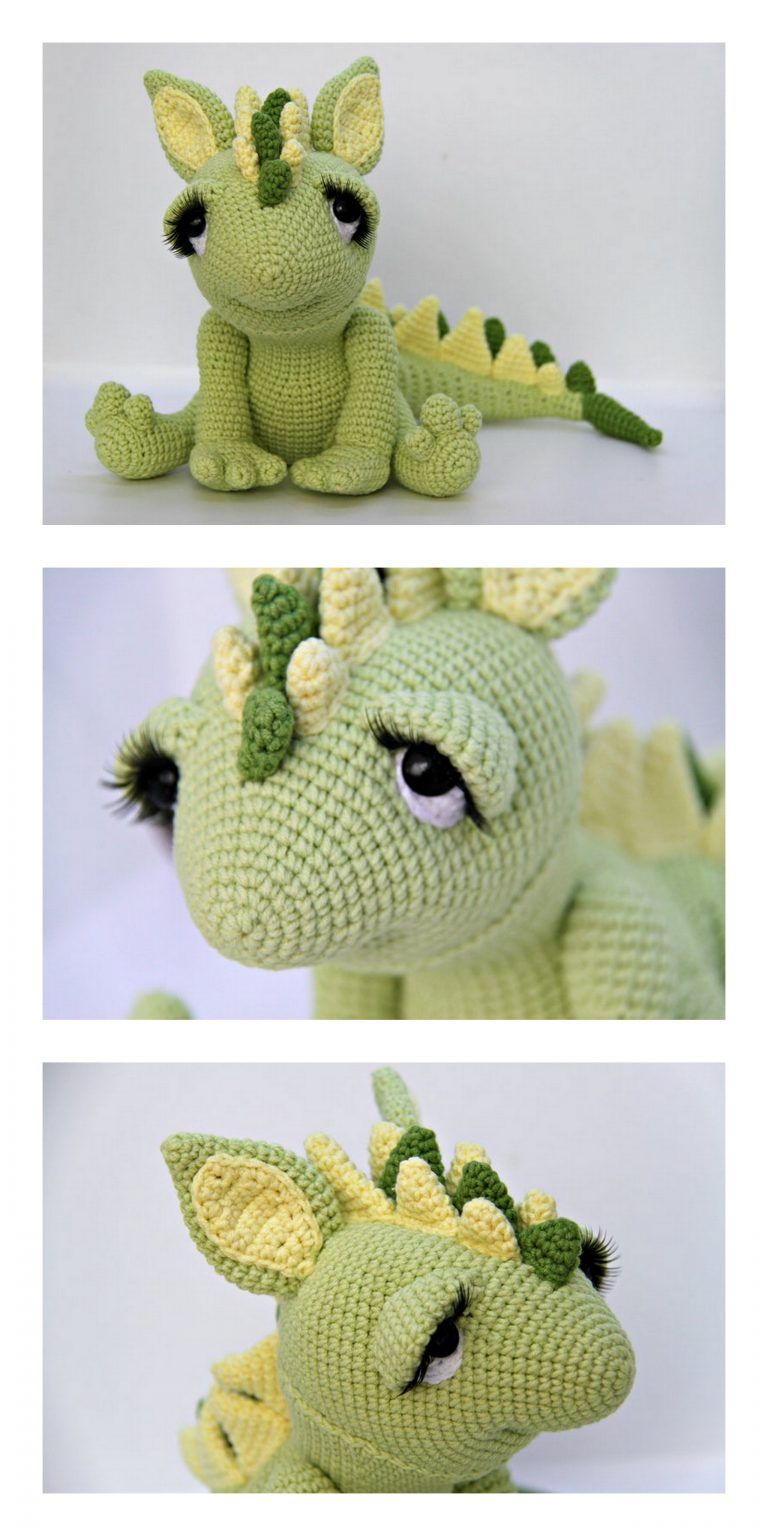 Tiny dragon amigurumi pattern - Amigurumi Today | 1536x768