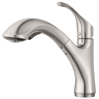 Pfister Kitchen Faucet F534 7cvs Corvo Stainless Steel One Handle