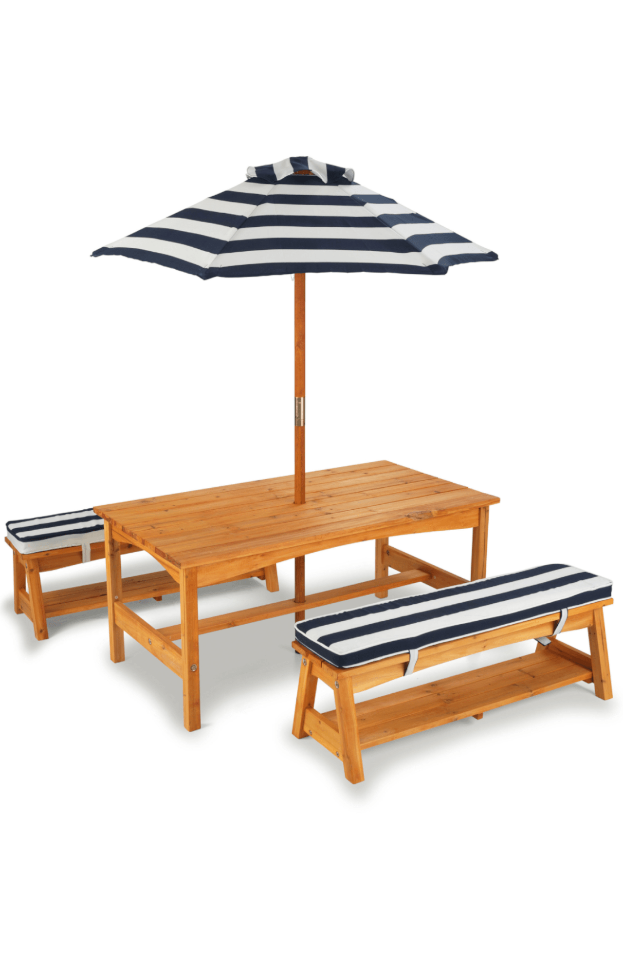 Miraculous Kidkraft Table And Bench Set Navy Kids Garden Outdoor Machost Co Dining Chair Design Ideas Machostcouk