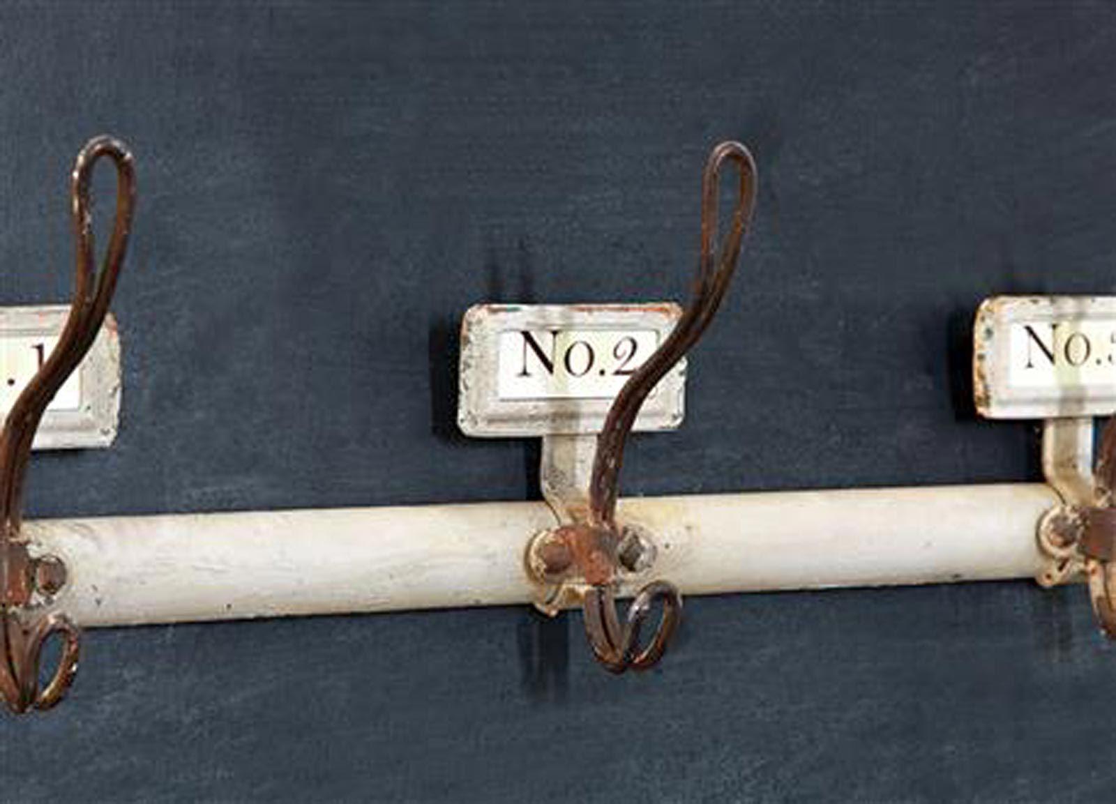 Vintage Bathroom Towel Hooks. Vintage Reproduction Ivory Metal Wall Coat Rack Bath Towel Hook