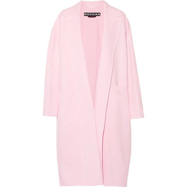 Rochas - Crepe Coat (2,830 PEN) ❤ liked on Polyvore featuring ...