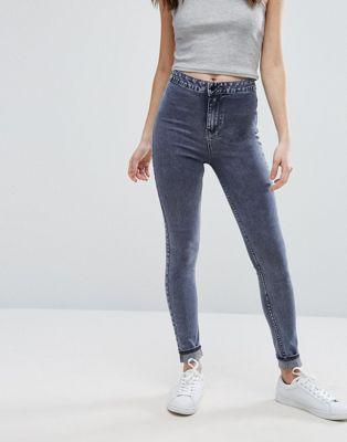 New Look Acid Wash Skinny Jeans