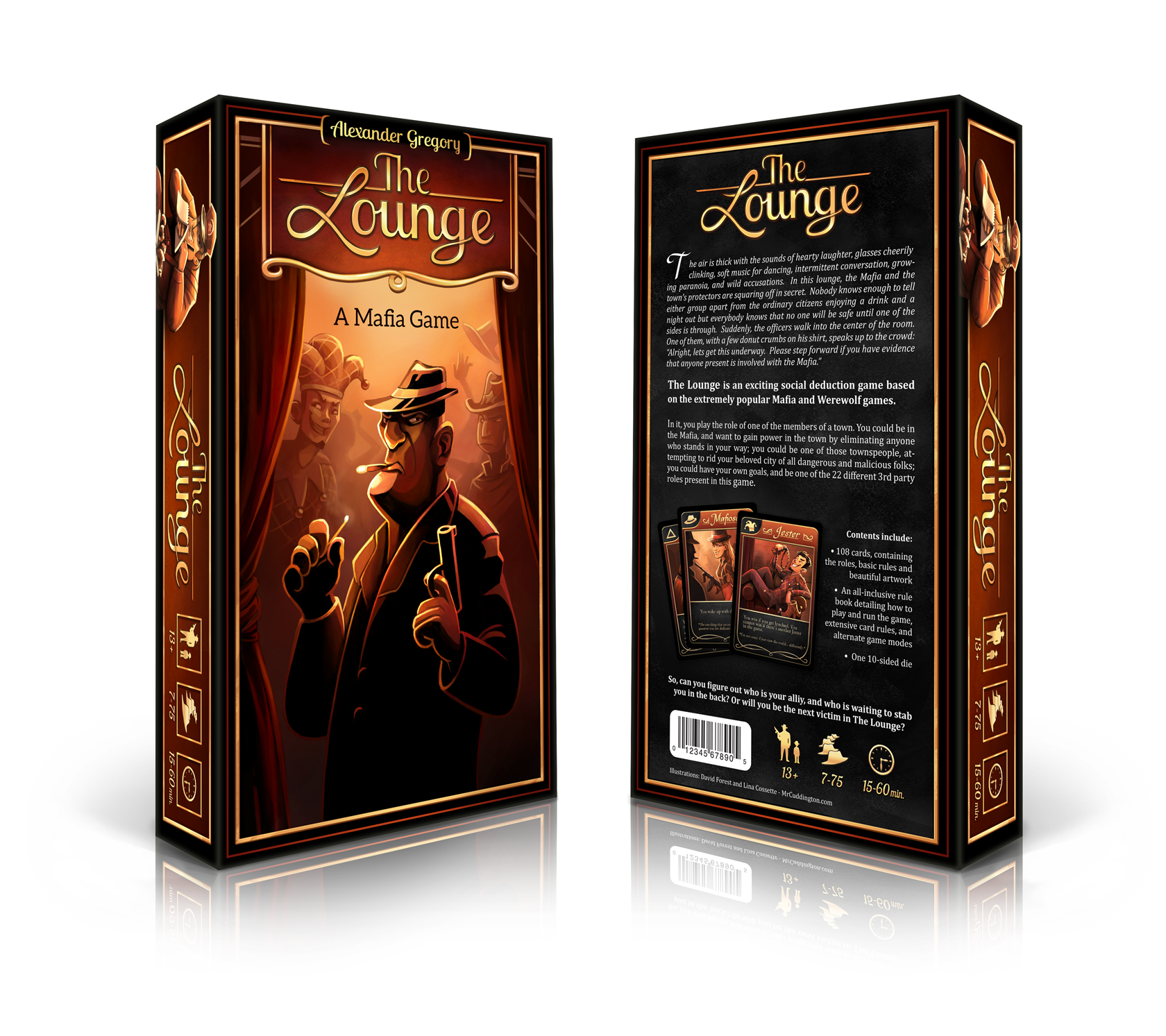 The Lounge is a game based on Mafia with over 40 different