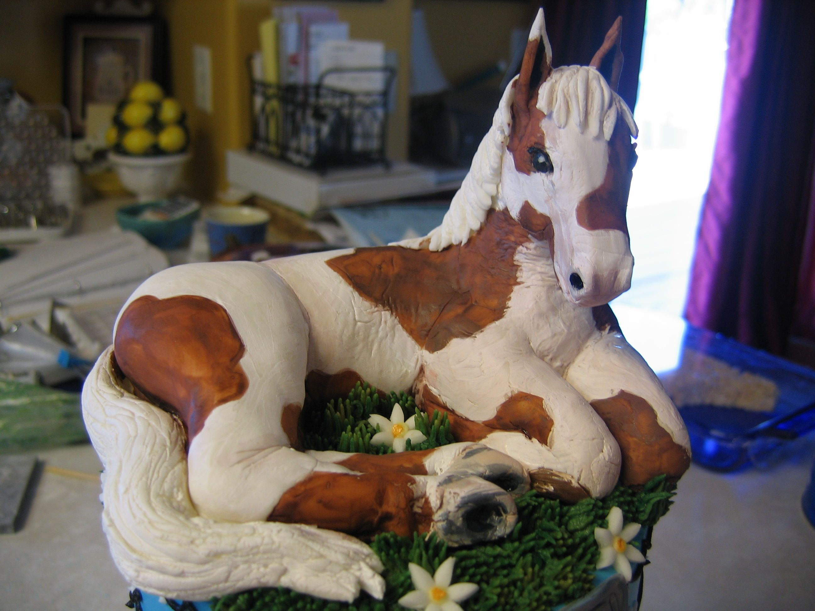 Fondant and rice crispy sculpted horse cake topper cake fondant and rice crispy sculpted horse cake topper ccuart Images