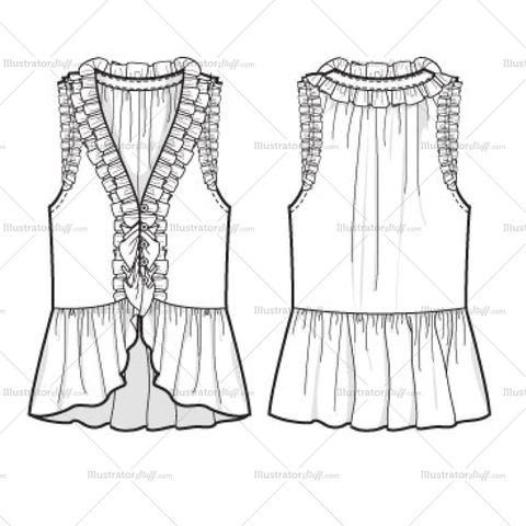 Free Fashion Flat Templates Trim Pack Courses Free Tutorials On Adobe Illustrator Tech Packs Freelancing For Fashion Designers Fashion Design Template Illustration Fashion Design Fashion Design Jobs