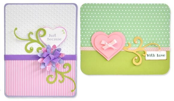 Card ideas for die-cutting and DIY embellishments