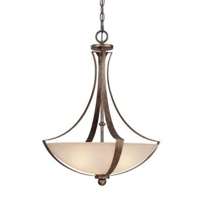 Filament Design Johnson 3 Light Rustic Incandescent Pendant-CLI-CPT203395409 at The Home Depot