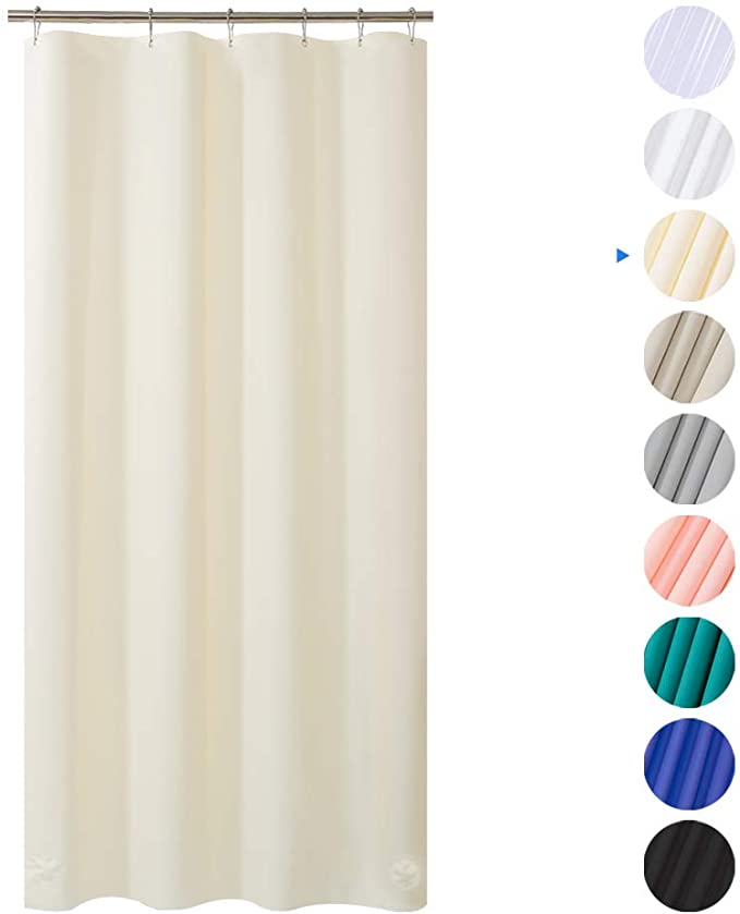 Amazon Com Amazerbath Plastic Shower Curtain 36 W X 72 H Beige Eva 8g Thick Bathroom Plastic In 2020 Plastic Shower Curtain Shower Curtain Polyester Shower Curtain