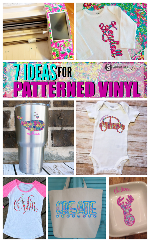 Patterned Vinyl And Htv Everything Silhouette Crafters Need To