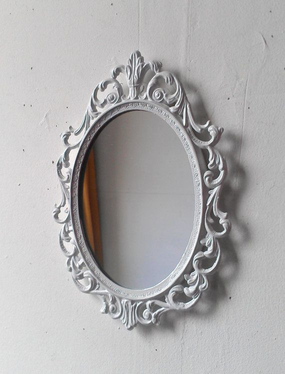 Fairy Princess Mirror Ornate Vintage Frame In Glossy Bright Vintage Brass Frame Princess Mirror Mirror