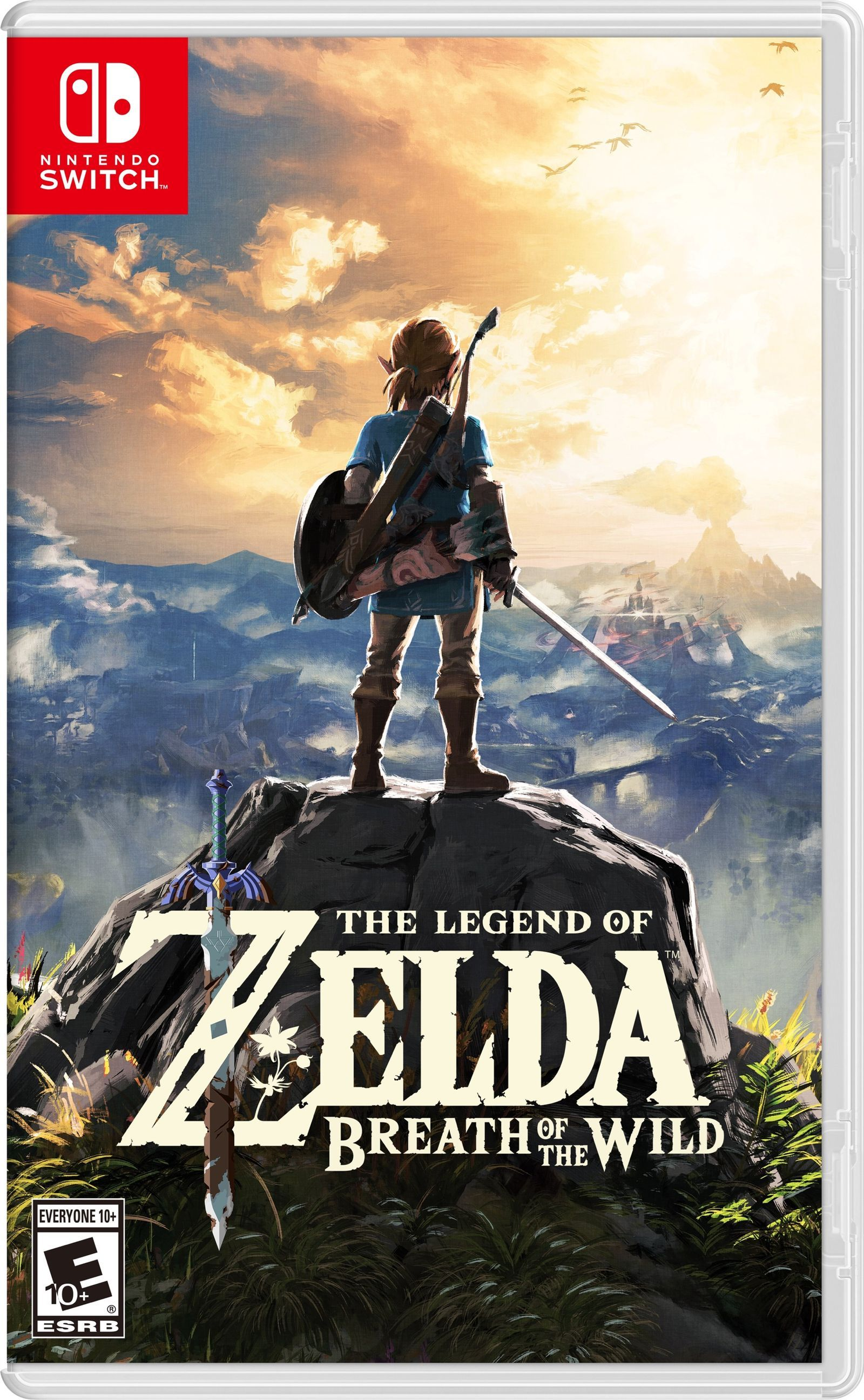 Image result for the legend of zelda breath of the wild box art switch""
