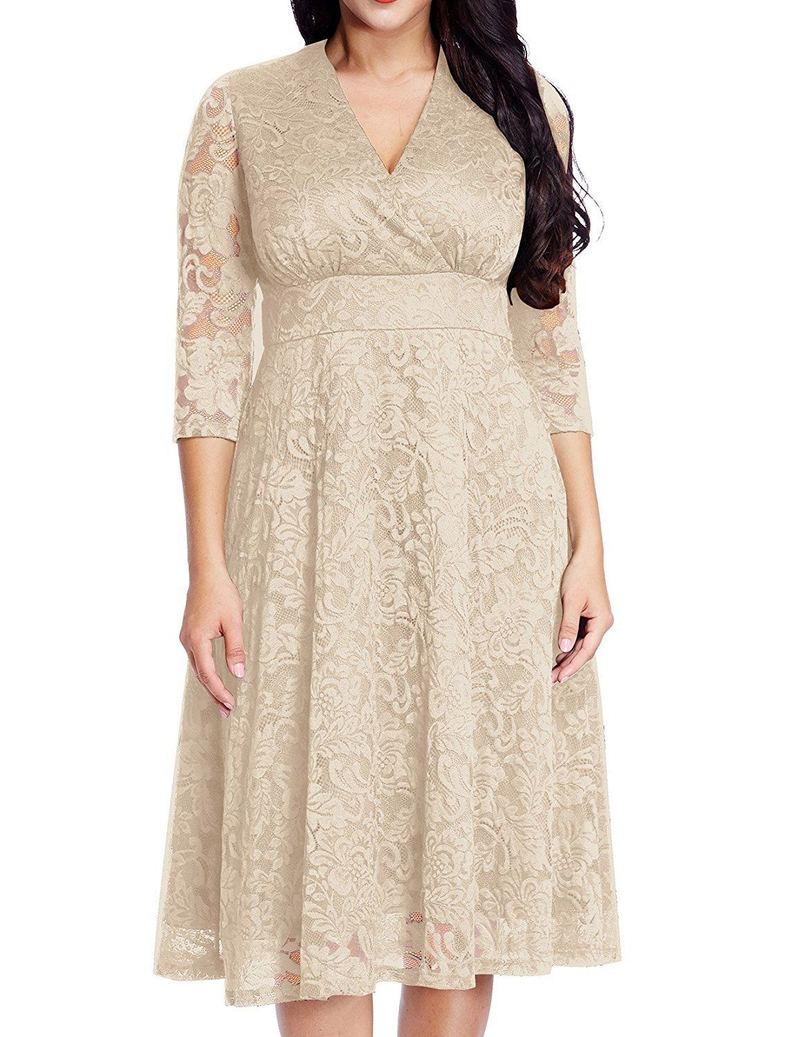 Egyptian wedding dresses  Nice Amazing Womenus Lace Plus Size Mother of the Bride Skater Dress