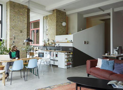 Un ambiente open space per soggiorno, cucina e sala da pranzo ...