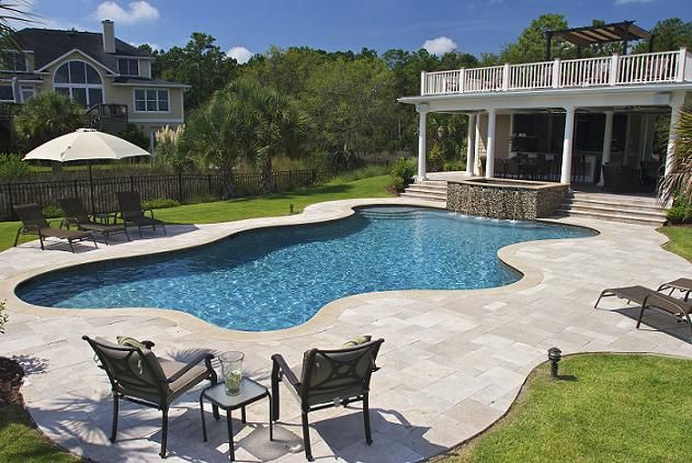 Mt Pleasant Swimming Pool Contractor Designs Spa Combo With Curves In Dunes West