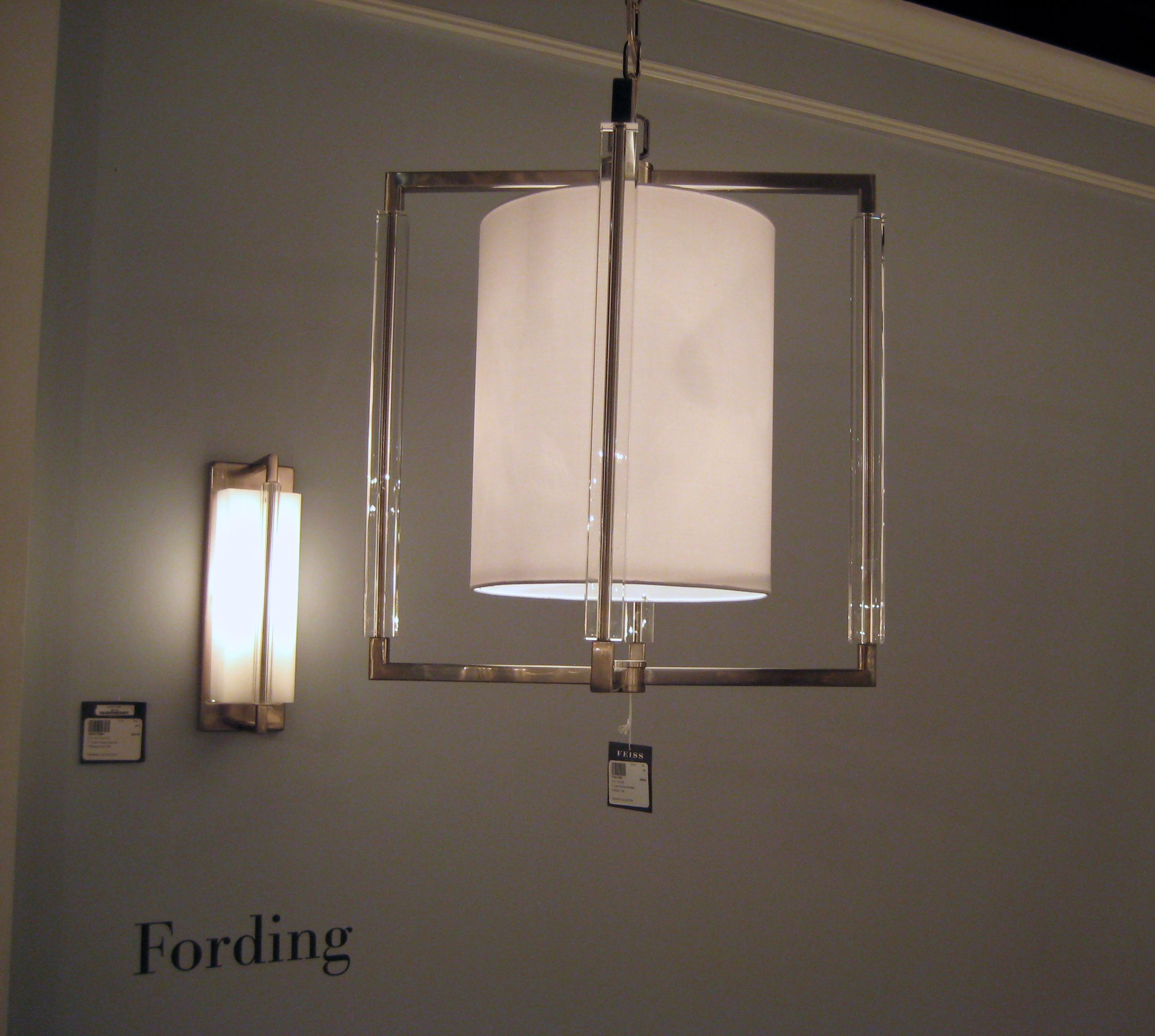 Fording Collection, Feiss, Brushed Steel finish, core-drilled ...