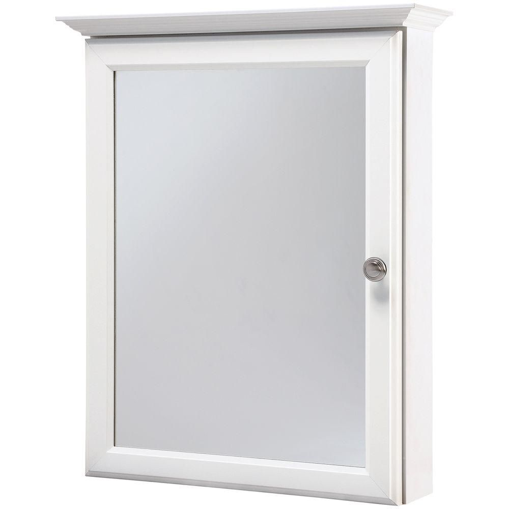 Home Depot Medicine Cabinet With Mirror Interesting Glacier Bay 2014 Inw X 25 Inh Framed Surfacemount Bathroom Review