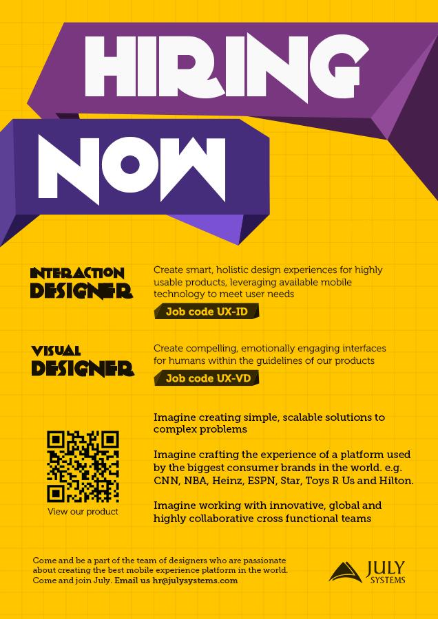 sample poster for job hiring yerat