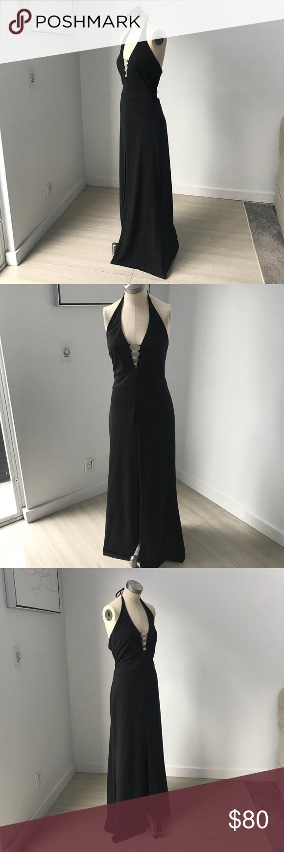 Morgan u co black backless formal prom dress in my posh