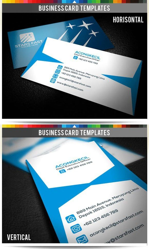 Premium Business Card Stars Fast Creative Business Card