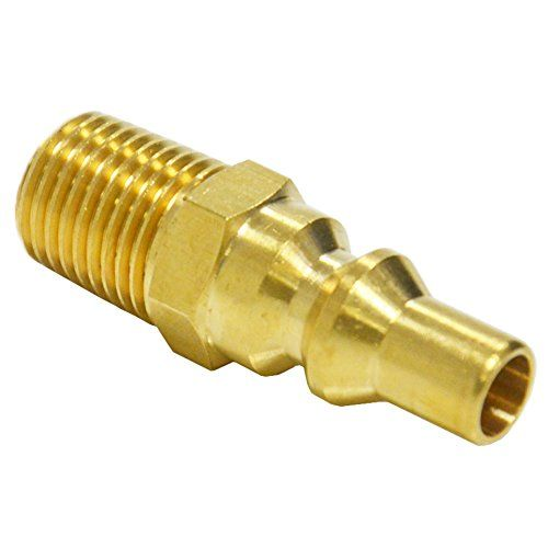 Outdoor Cooking Replacement Parts Propane Gas Quick Connect Adapter 14 Npt Full Flow Brass Male Plug Kit For Rv Por Portable Bbq Cooking Replacements Propane