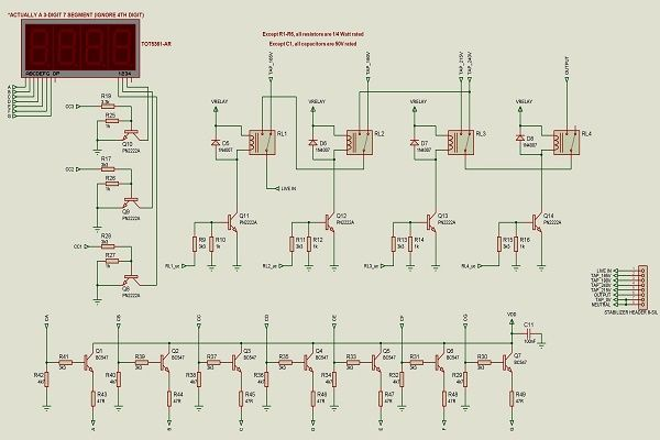 automatic voltage stabilizer circuit diagram circuito rh pinterest com