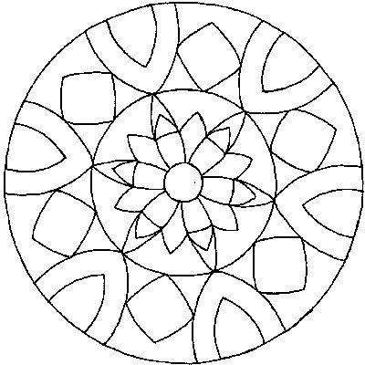 Mandala Difficile Disegno Di Un Mandala Raffigurazione Da Colorare Mandala Mandala A Forma Di Fiore Disegno Di Mandala