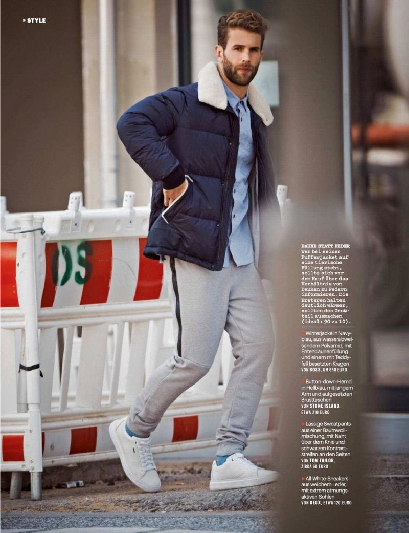 35d6269e3ca95 André Hamann Covers Men's Health Germany, Dons Rugged Styles Inside Emporio  Armani, Fresh Outfits