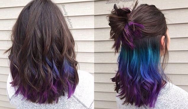 dying the middle layer of your hair? AWESOME | Fashion in 2018 ...