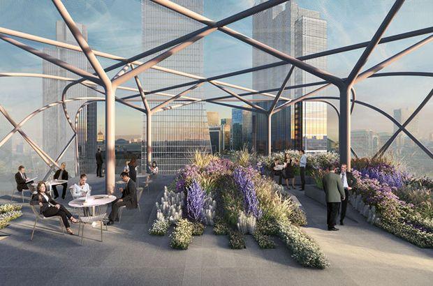ETFE roof in City London, by Skanska