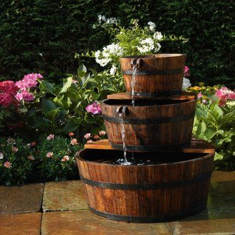 Fontaine De Jardin 3 Tonneaux En Cascade Fontaine De Jardin