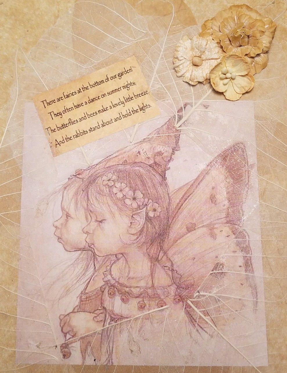 Fairies of the Garden ~mixed media on wood   fairy fairy   Pinterest ...