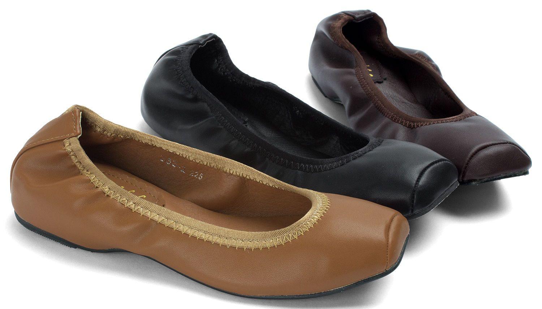 29.90 | AnnaKastle Womens Vegan Leather Square Toe Ballet
