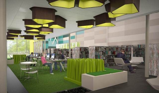Library Interior Design Award Preston Royal Replacement Branch Dallas TX Perkins Will