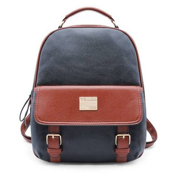 Women PU Leather Travel Rucksack Backpack (870 MKD) ❤ liked on Polyvore featuring bags, backpacks, rucksack bag, pleather backpack, travel rucksack, travel bag and pu leather bag