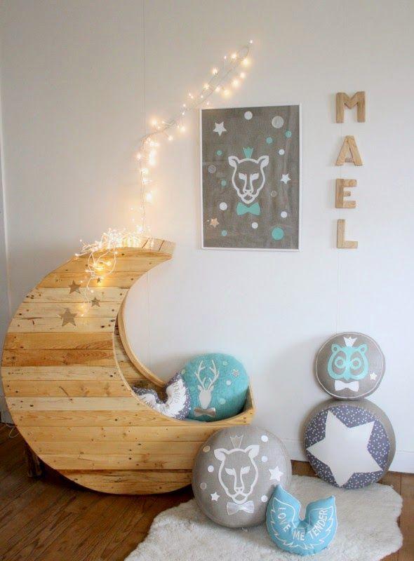 Una cuna DIY y un bebé en la luna { DIY baby cot and a baby on the ...