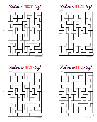 Youu0027re A MAZE Ing! Free Printable Cards For Valentineu0027s Day Or