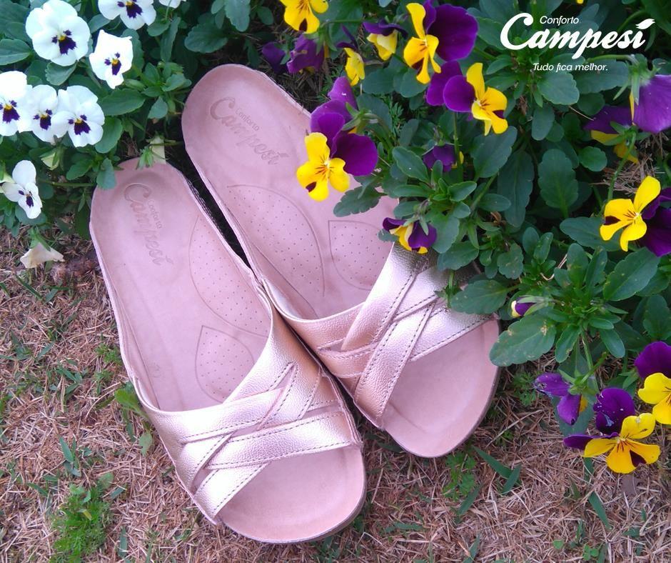 Quer uma dica para arrasar nesta quinta-feira, com muito conforto? Uma sandália da linha Blaqueadas, em tom metalizado! Sensacional!   Compre aqui: http://goo.gl/S1ClPG