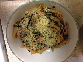 Tastefully Simple by Jillian Neal: Spinach and Shrimp Pesto Pasta