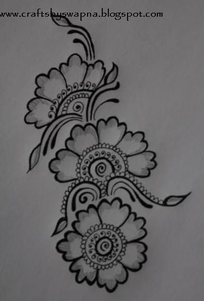 Mehendi henna pinterest mehandi designs for Designs for drawing easy