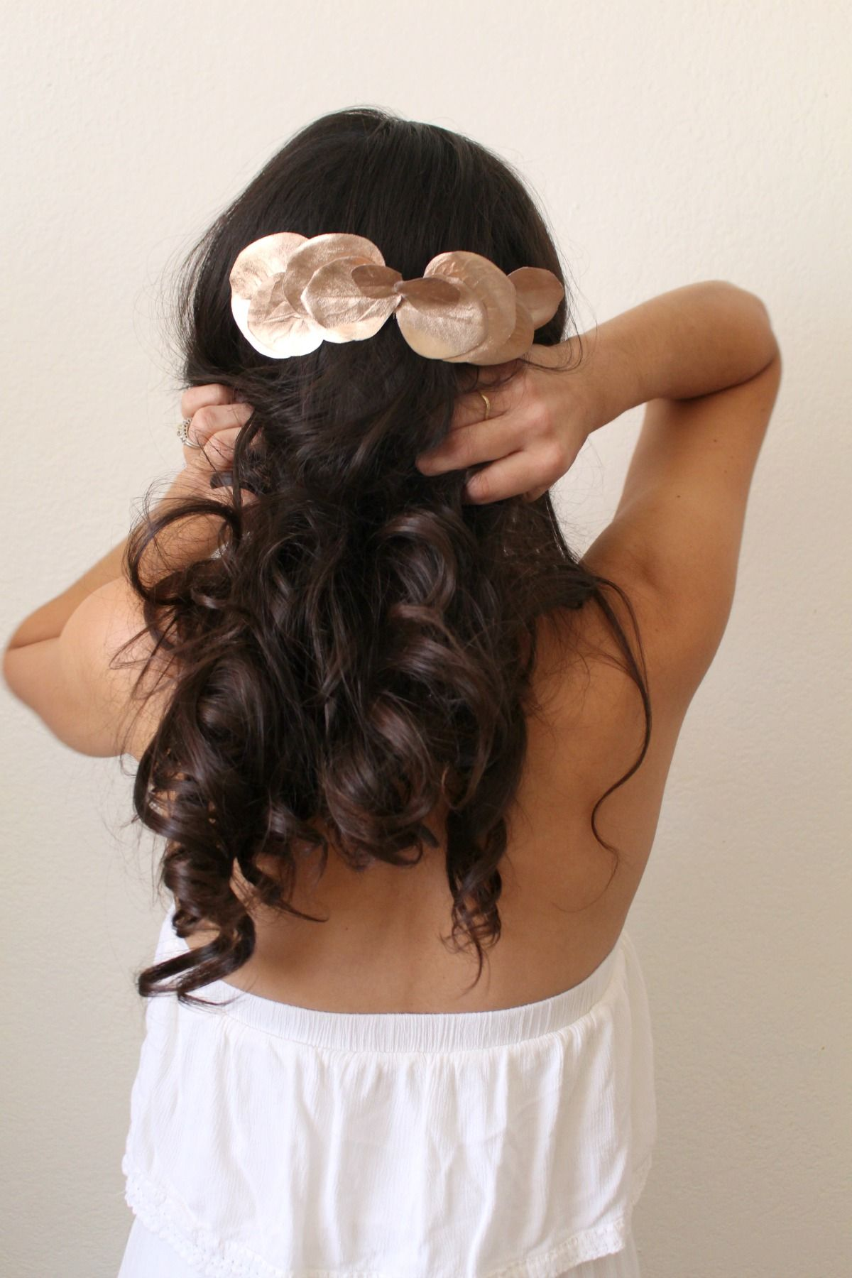 Rose gold leaf bridal comb for bridal and everyday hairstyles by ...