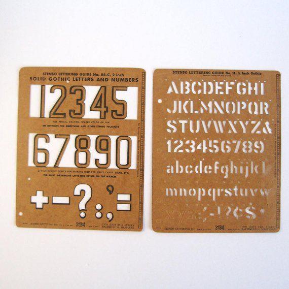 Stenso Lettering Guides - Vintage Letter & Number Stencils