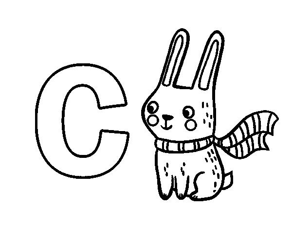 Dibujo Del Abecedario Letra C Para Colorear Abecedario